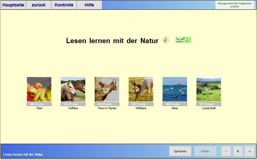 Lesen lernen mit der Natur