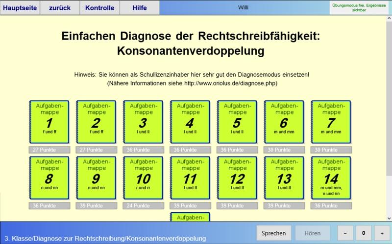 Rechtschreib-Diagnose