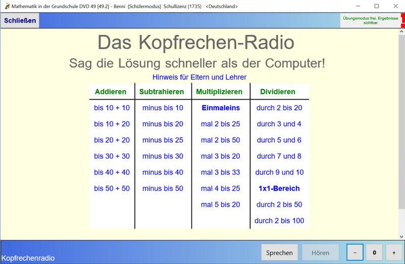 Kopfrechenradio
