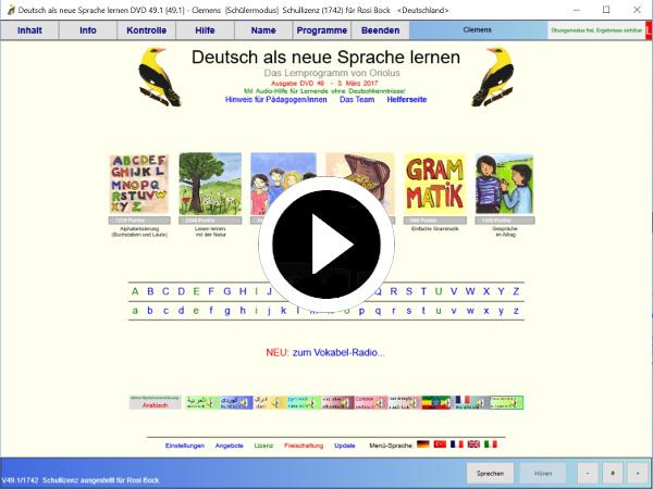 Video zu Deutsch als neue Sprache lernen