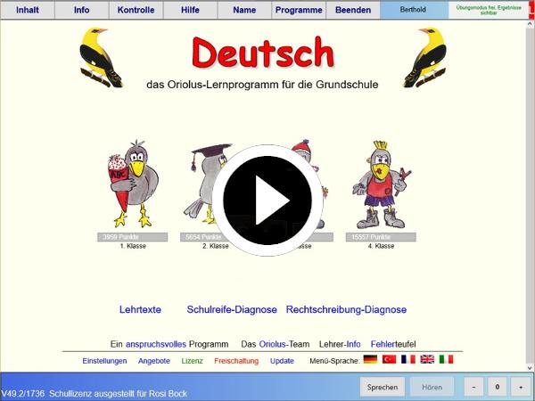 Video zu Deutsch in der Grundschule