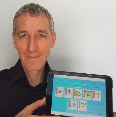 Joachim Kleinlein mit iPad